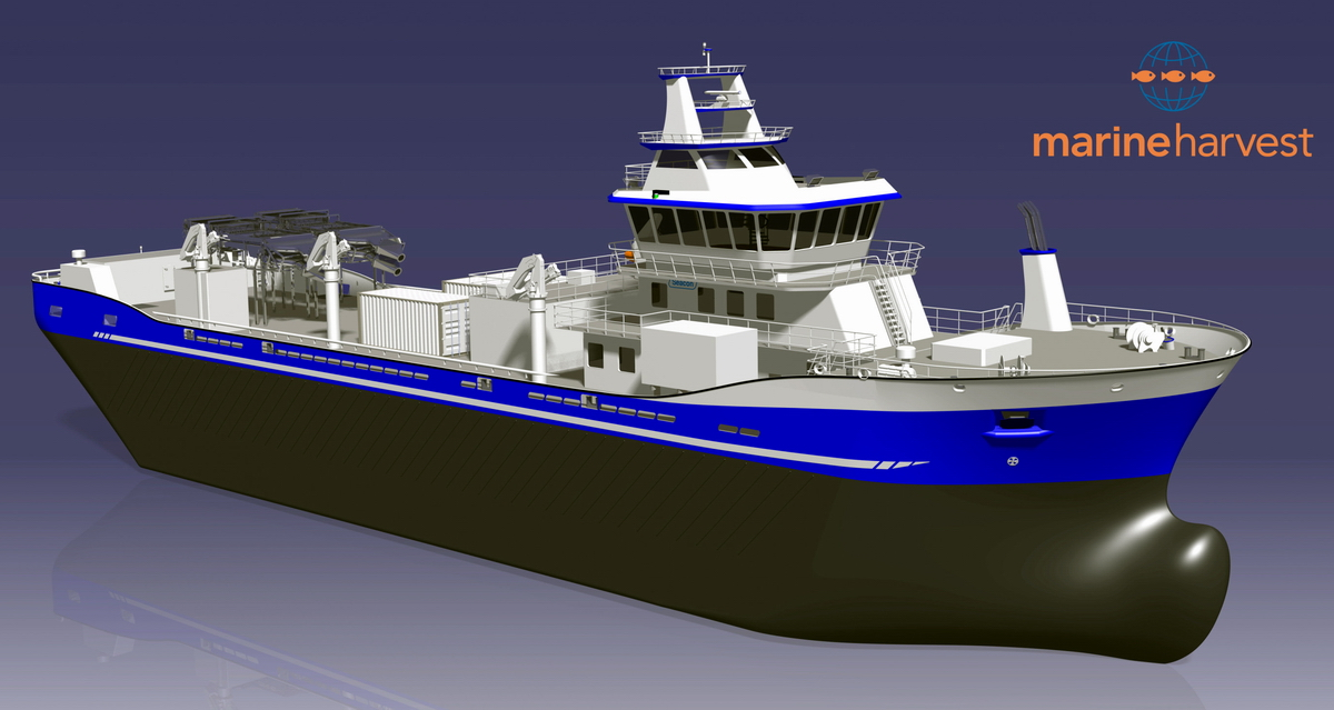 A computer rendering of a live fish carrier to be built at Crist. Fig.: Seacon