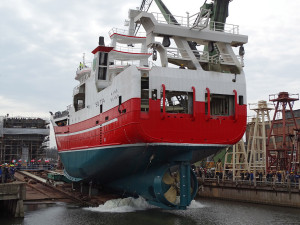Aine during launch at Gdansk branch of Nauta SY
