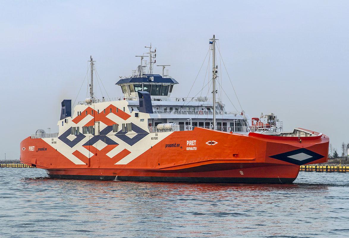 Car passenger ferry Piret arrived in the Port of Tallinn