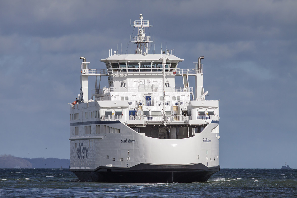 Final 'Salish' class vessel departed for Canada [see aerial video shots]