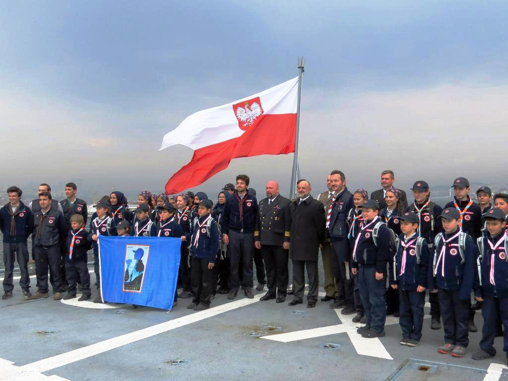 NATO ships in Istanbul, visit of the Ambassador of the Republic of Poland