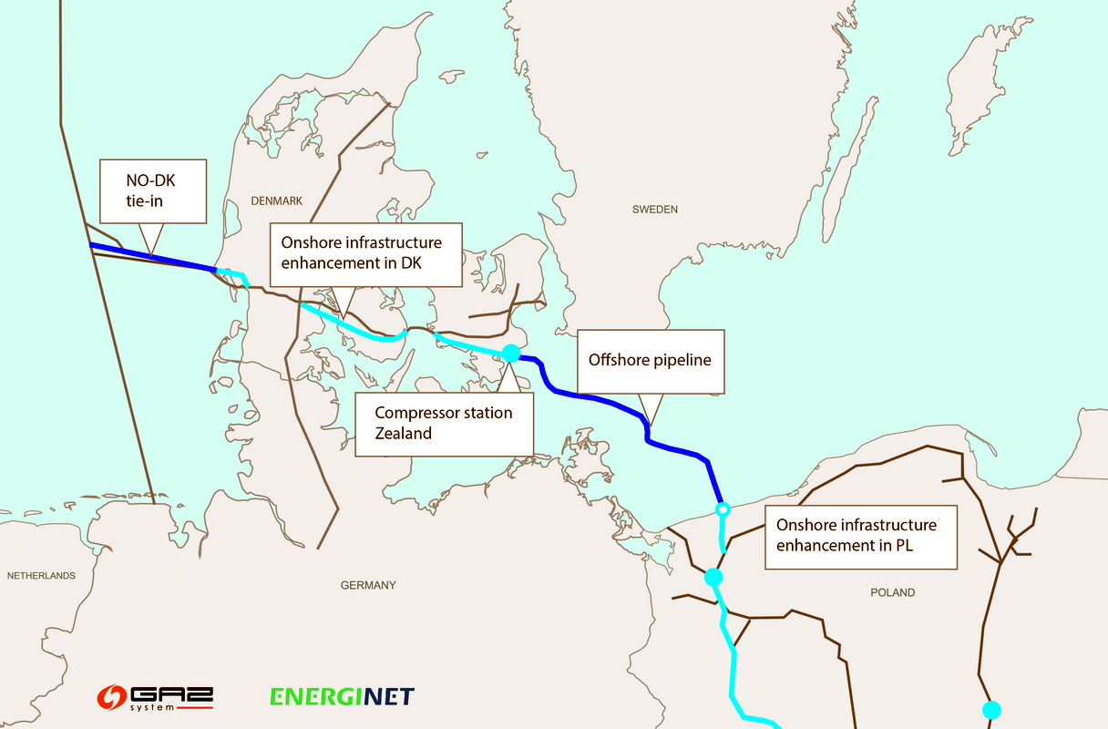 Ramboll will design offshore gas pipeline from Denmark to Poland