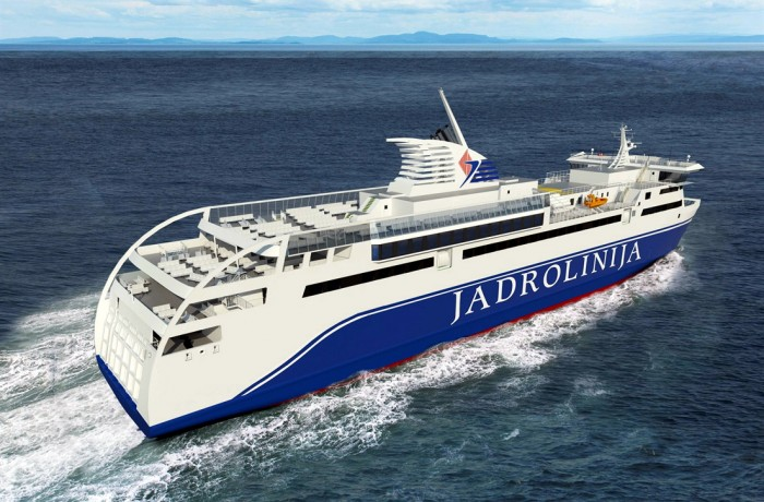 Jadrolinija released first images of a new ferry to be designed by RMDC