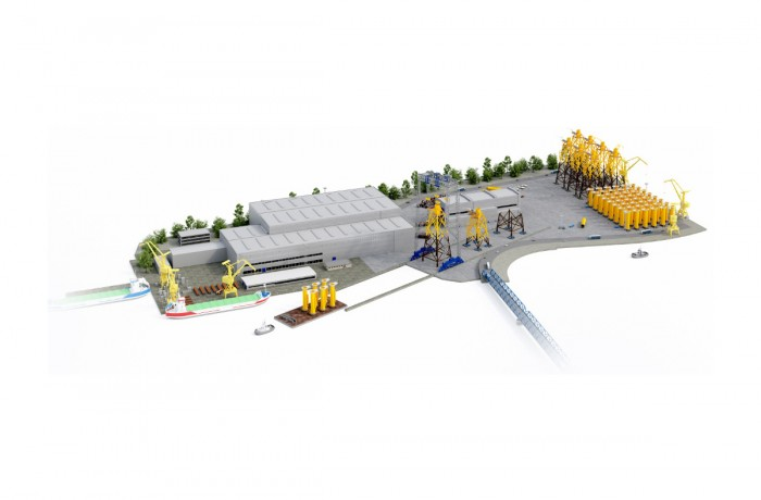 ST3 offshore wind turbines foundation fabrication facilities in Szczecin