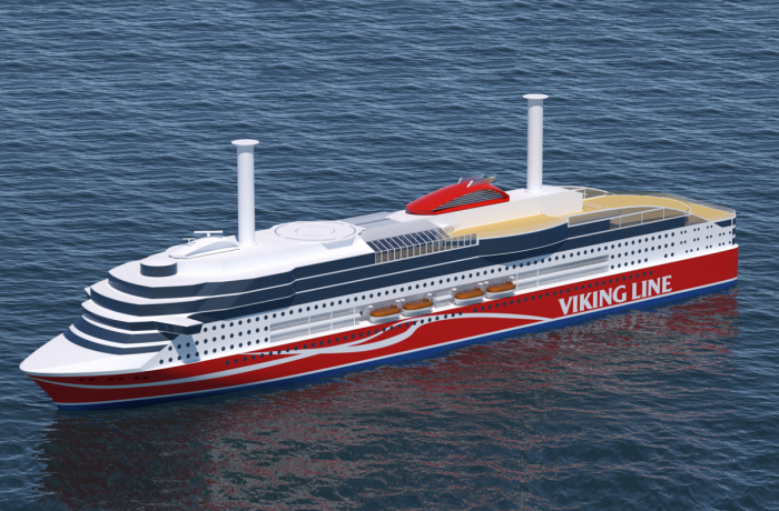 Rendering of the new Viking Line ferry design