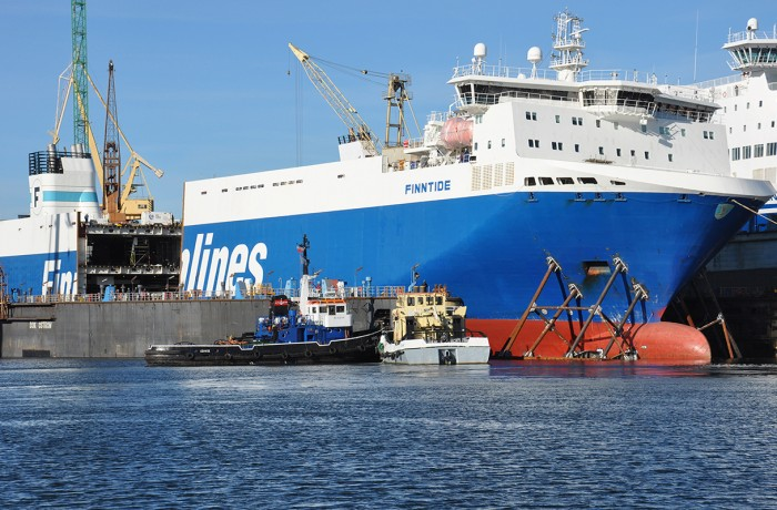 Finntide was the first ''Breeze'' class ship to be lengthened at Remontowa for Finnlines