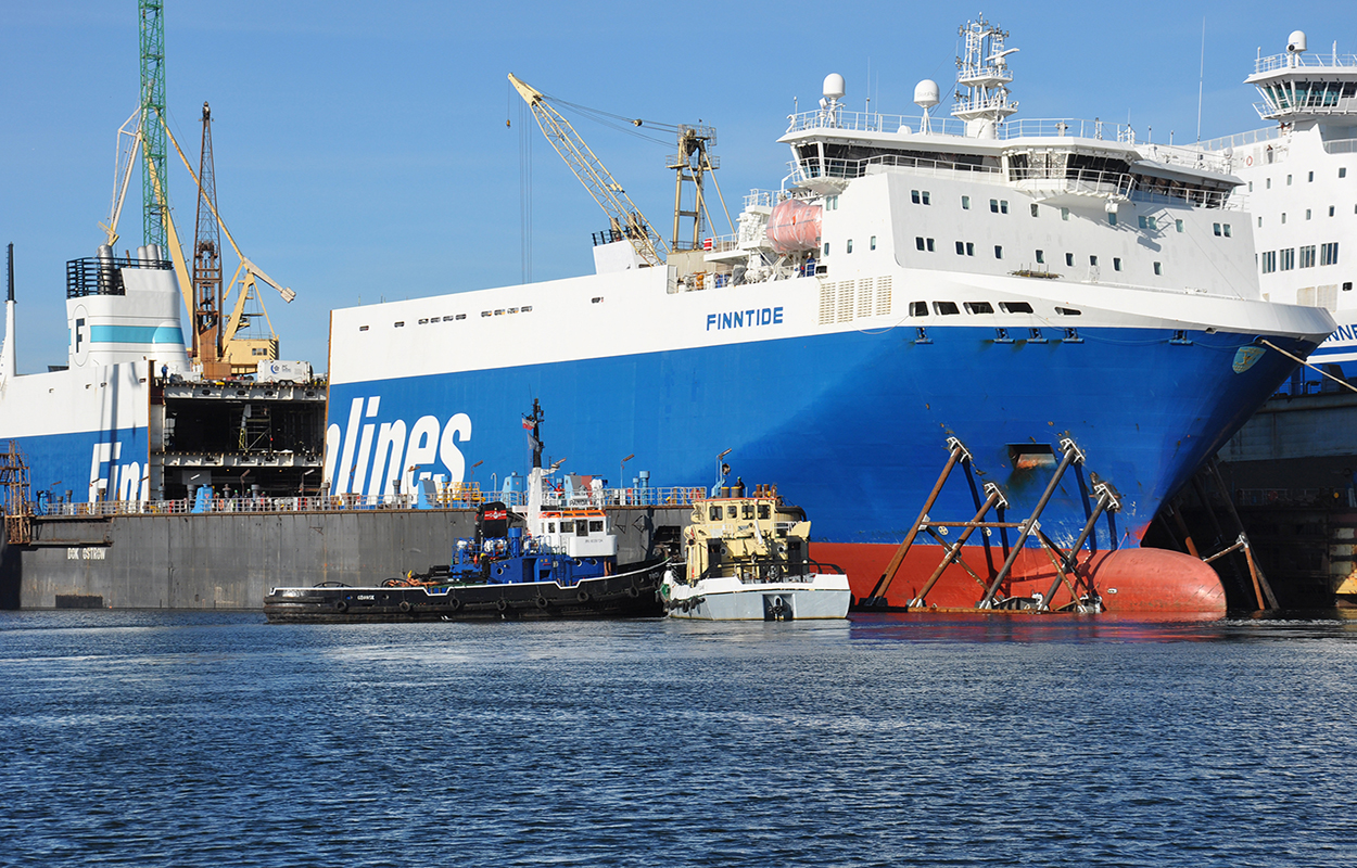 First lengthening of Finnlines' cargo ro-ro vessel completed at Remontowa SA