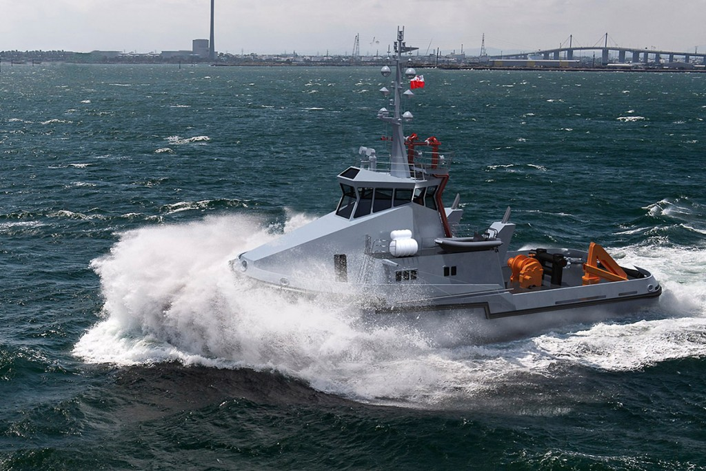 Renderization of the new tug for Polish Navy