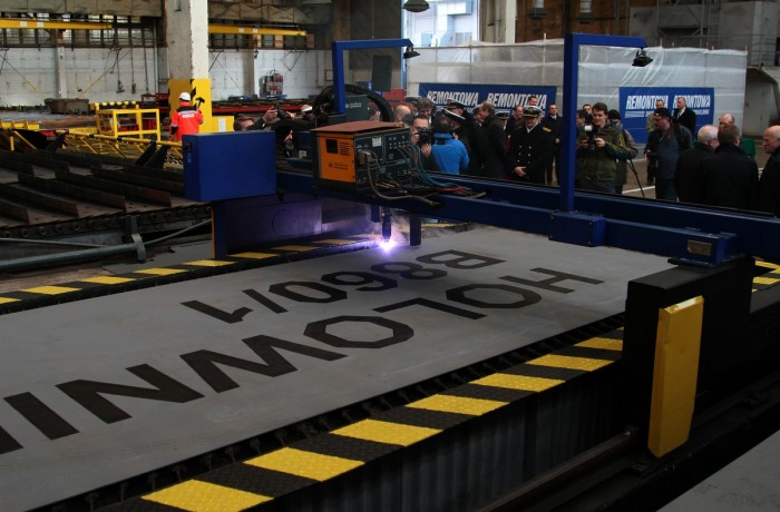 First steel cutting ceremony