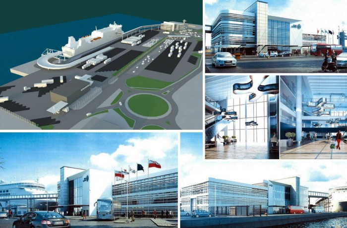 Initial visualisations of the new Gdynia ferry terminal