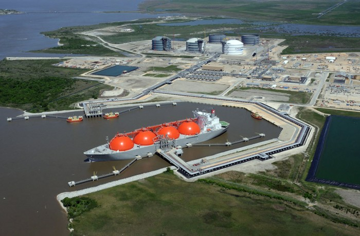 Sabine Pass LNG export terminal, Louisiana, USA