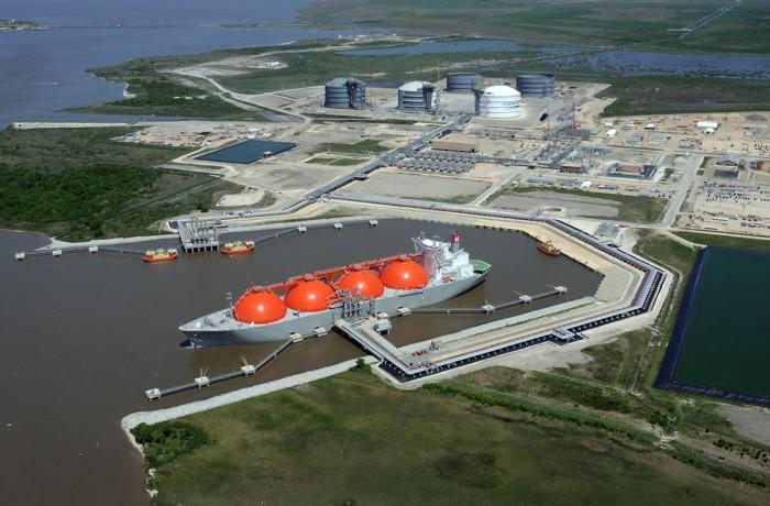 Sabine Pass LNG export terminal, Louisiana, USA