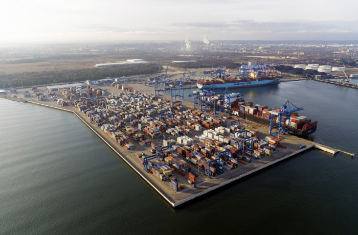 The high position of the Port of Gdansk is above all due to the expanded DCT Gdansk terminal. Photo: aeromedia.pl