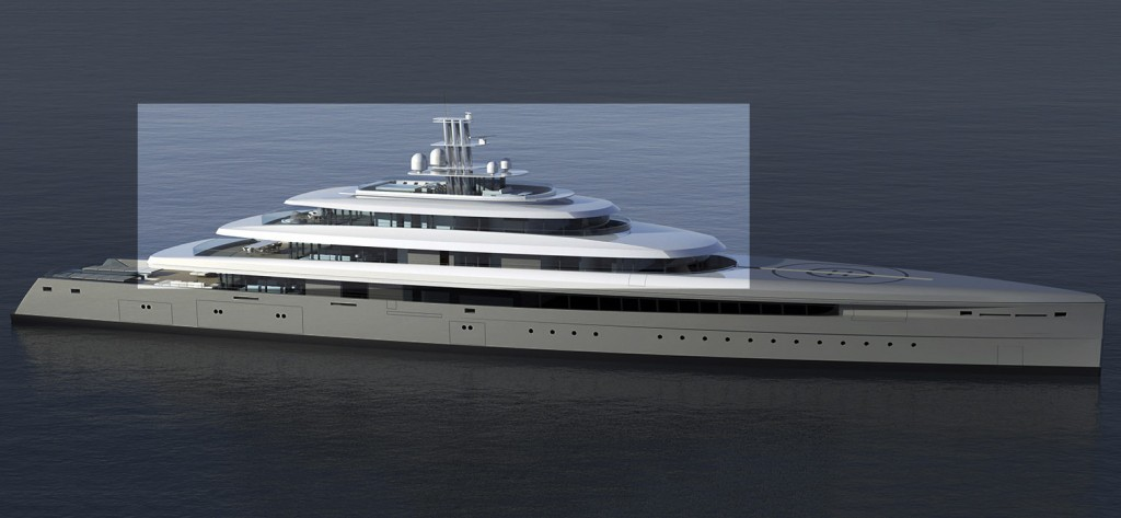 Project Acquaintance (Oceanco Y719) will receive its superstructure from Polish aluminum builder