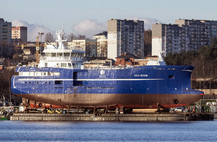 Montex shipyard has delivered partly outfitted fish carrying vessel