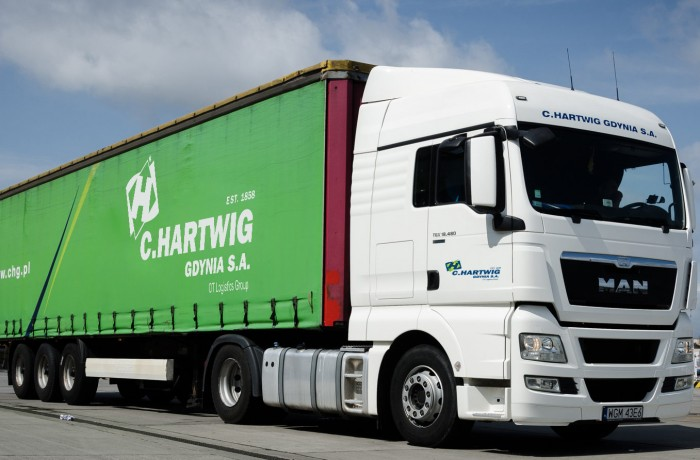 C.Hartwig operates in sea freight forwarding and road haulage