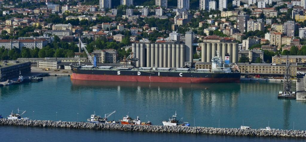 Croatian port of Luka Rjeka