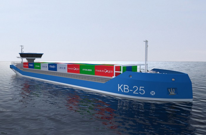 Initial design concept of the river-sea vessels to be built for German owner Monterola