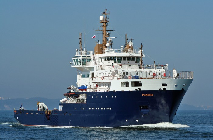 Pharos multi-function lighthouse service vessel & buoy tender for UK delivered from Remontowa Shipbuilding