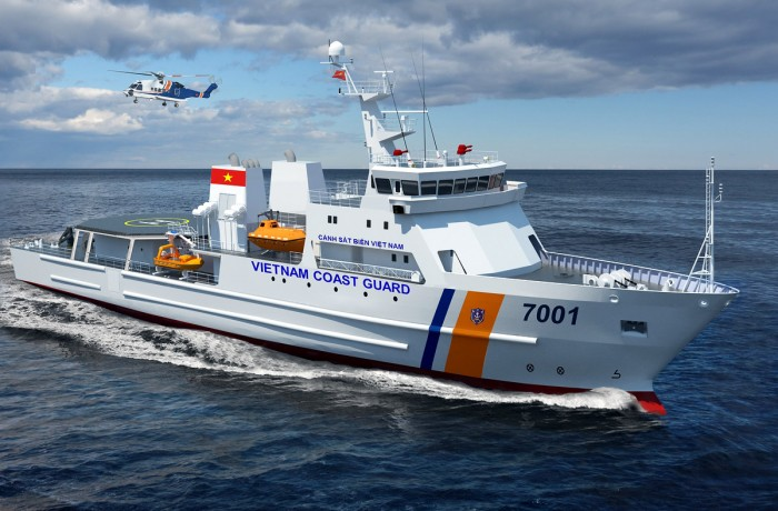 Artist's impression of initial concept design of SAR vessel for Vietnam