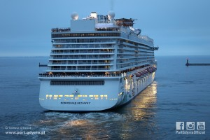 One of the world's largest cruise ships Norwegian Getaway
