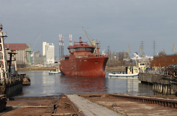 The vessel has been built in Gdańsk for Vaagland Båtbyggeri AS