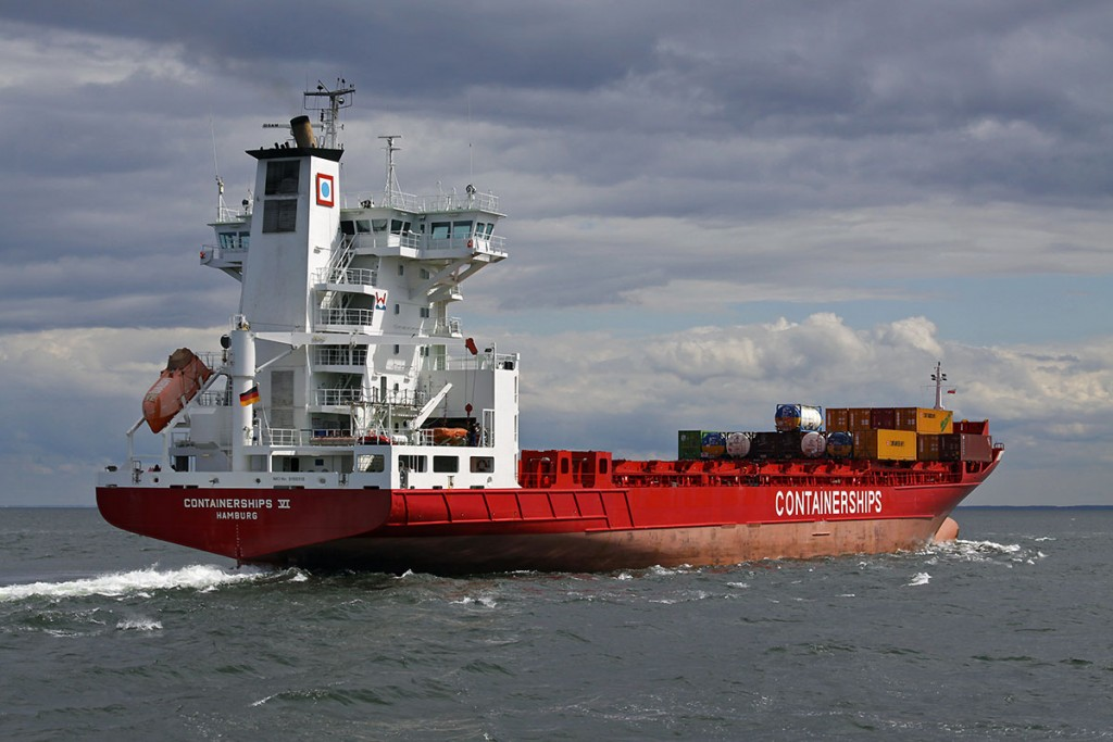 Container feeder vessel operated by Containerships. Photo: Piotr B. Stareńczak