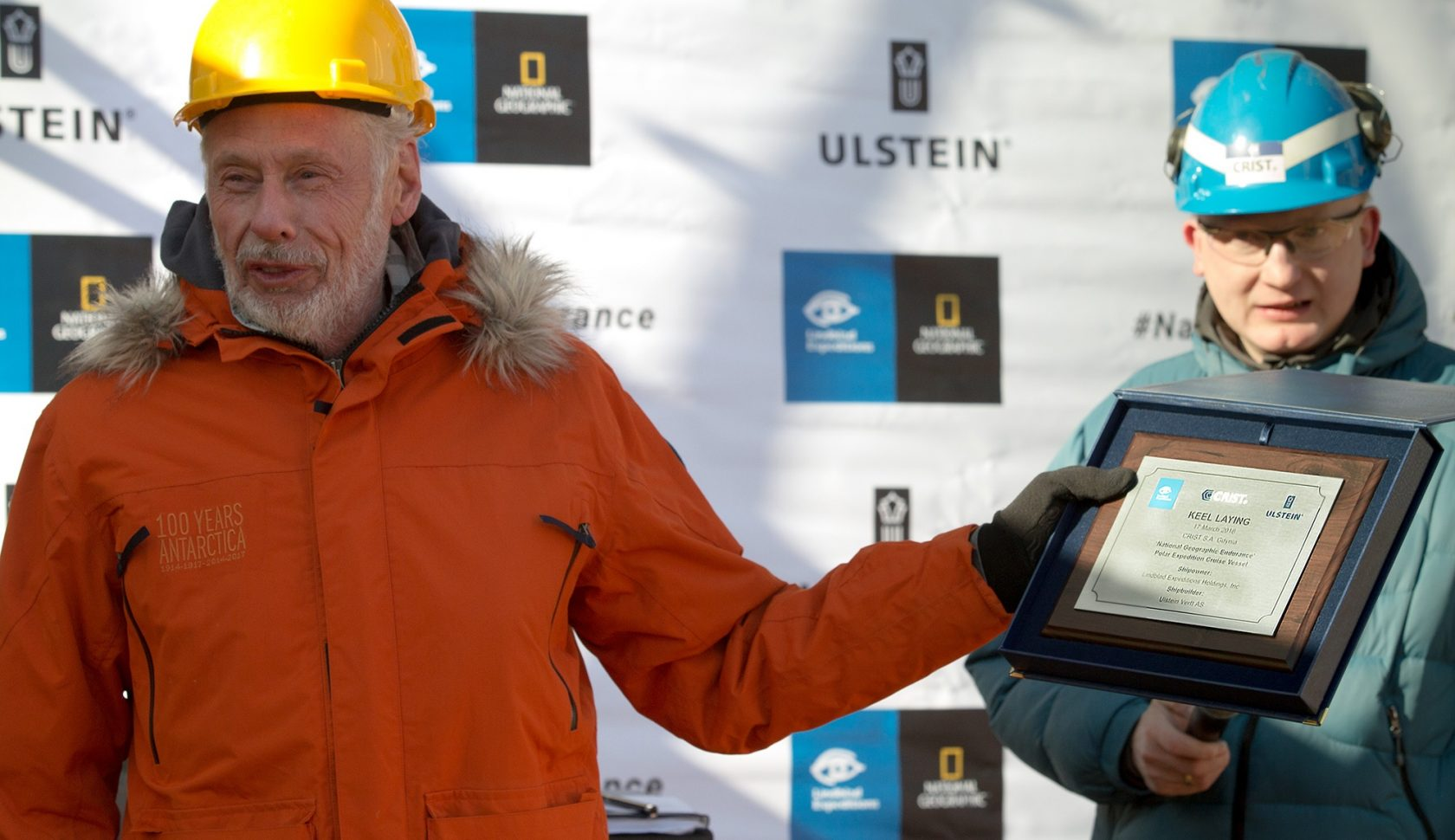 Laying the keel for the National Geographic Endurance polar ship