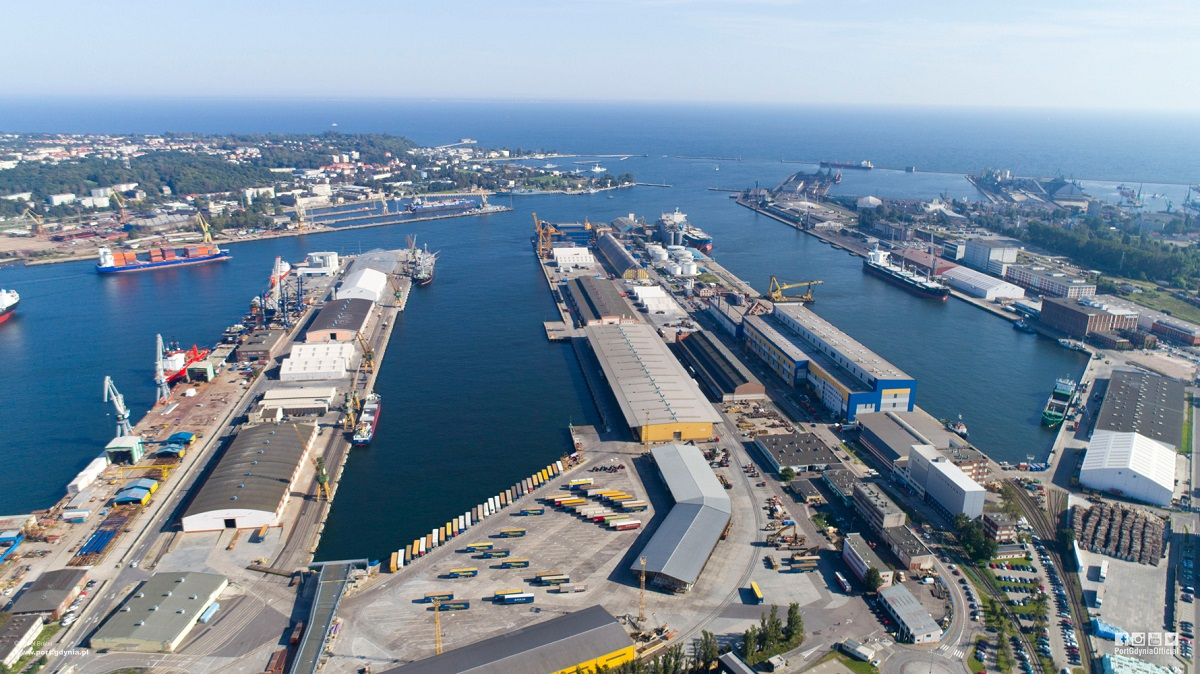 Hungarian Quay For The Port Of Gdynia Poland At Sea