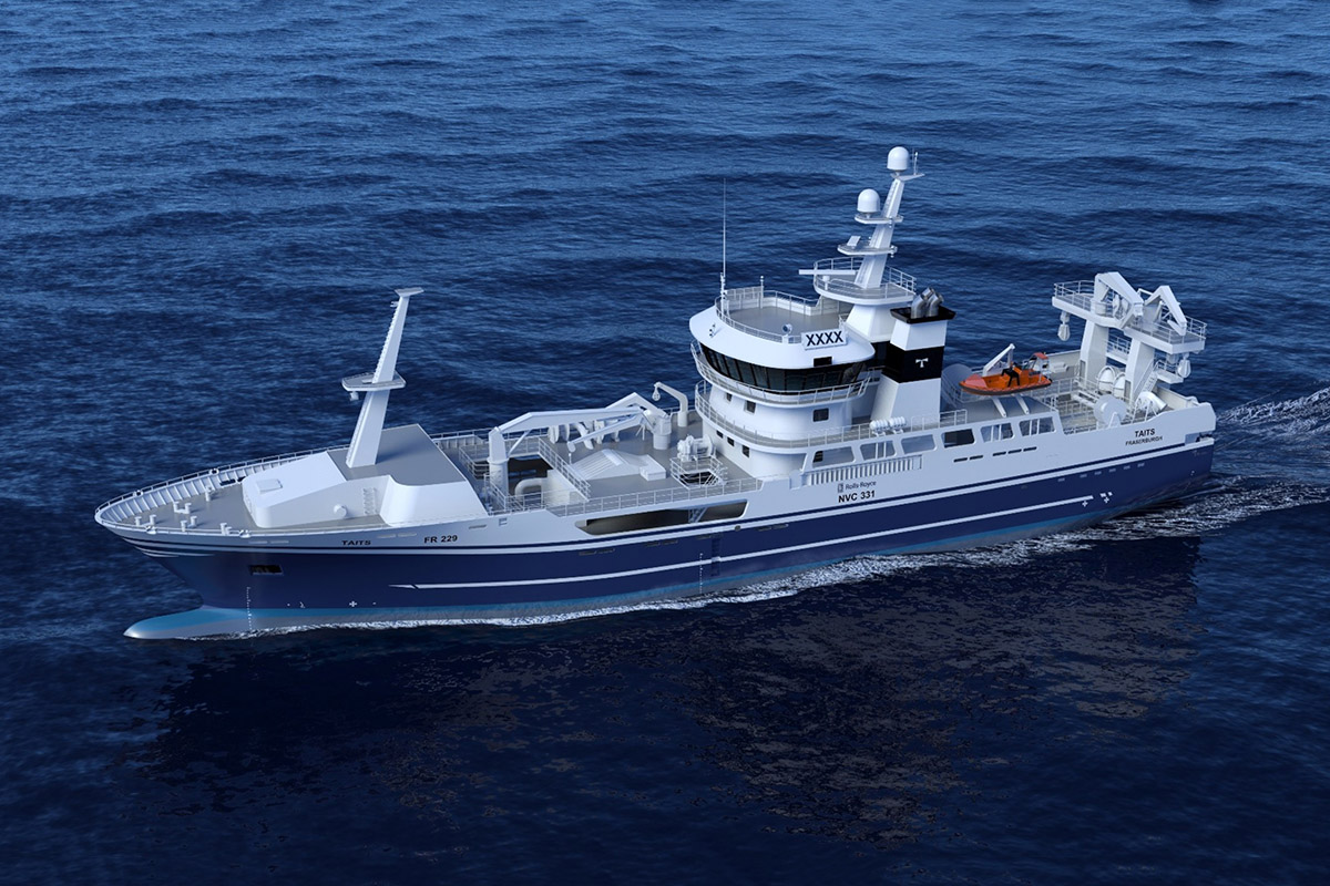 A trawler hull for Norwegianclient launched at Remontowa Shipbuilding SA