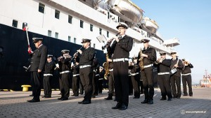 The Astoria was welcomed by an orchestra and representatives of the Port of Gdansk Authority