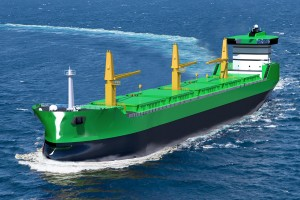 LNG fueled Great Lakes bulk carrier concept from NED Project. Fig.: NED Project.