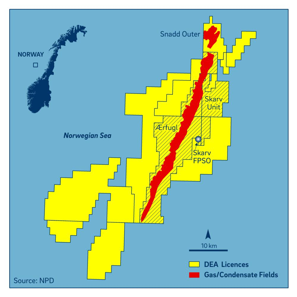 Location of the Ærfugl field