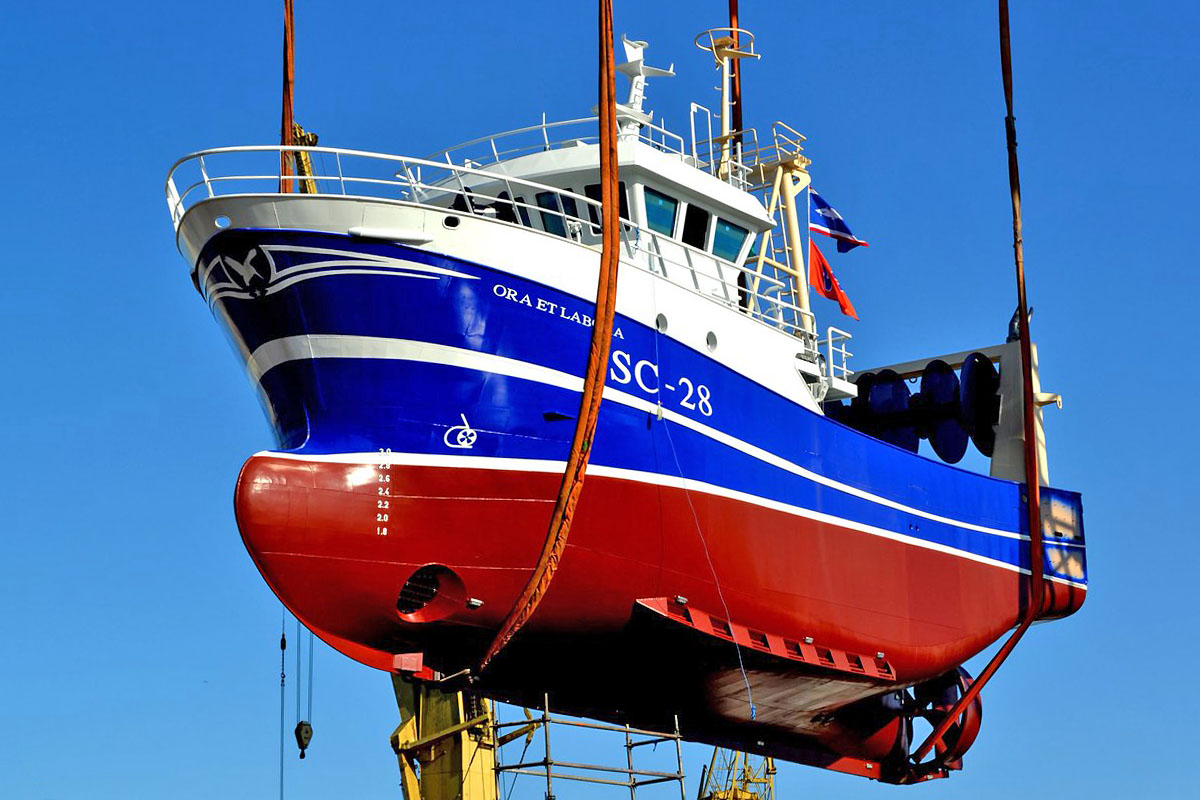 Ora et Labora – PTS shipyard built partially outfitted trawler for Vestvaerftet
