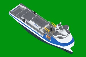 Concept of an LNG bunkering tanker based on PSV vessel hull. Fig.: NED Project / Remontowa Shipbuilding SA