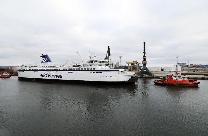 Spirit of British Columbia on the way to Canada from Remontowa Shiprepair Yard (Photo: Sławomir Lewandowski)