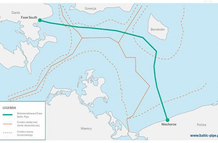 Baltic Pipe route