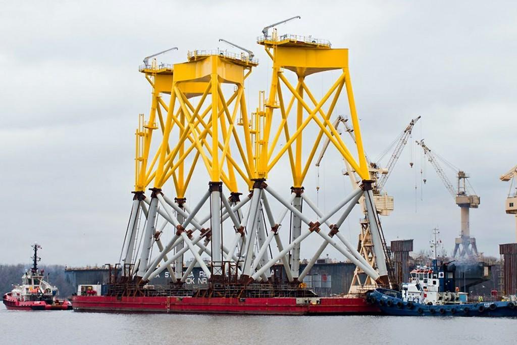 Borkum Riffgrund jacket foundations ready for shipment