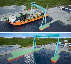 Extension of wharf Kvaerner yard Stord to facilitate FPSO topsides installation