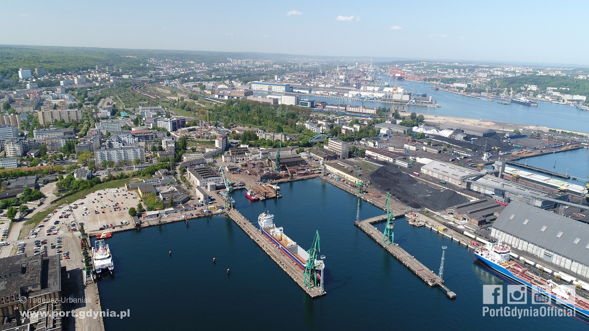 The areas from the Nauta Shipyard for the Port of Gdynia