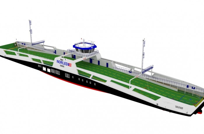 Visualization of a Double Ended Diesel Electric Hybrid ferries for Norled (Photo credit: Remontowa Shipbuilding)