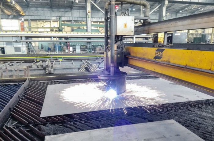 Steel-cutting ceremony of the NB 315 (Photo credit: Crist SA)