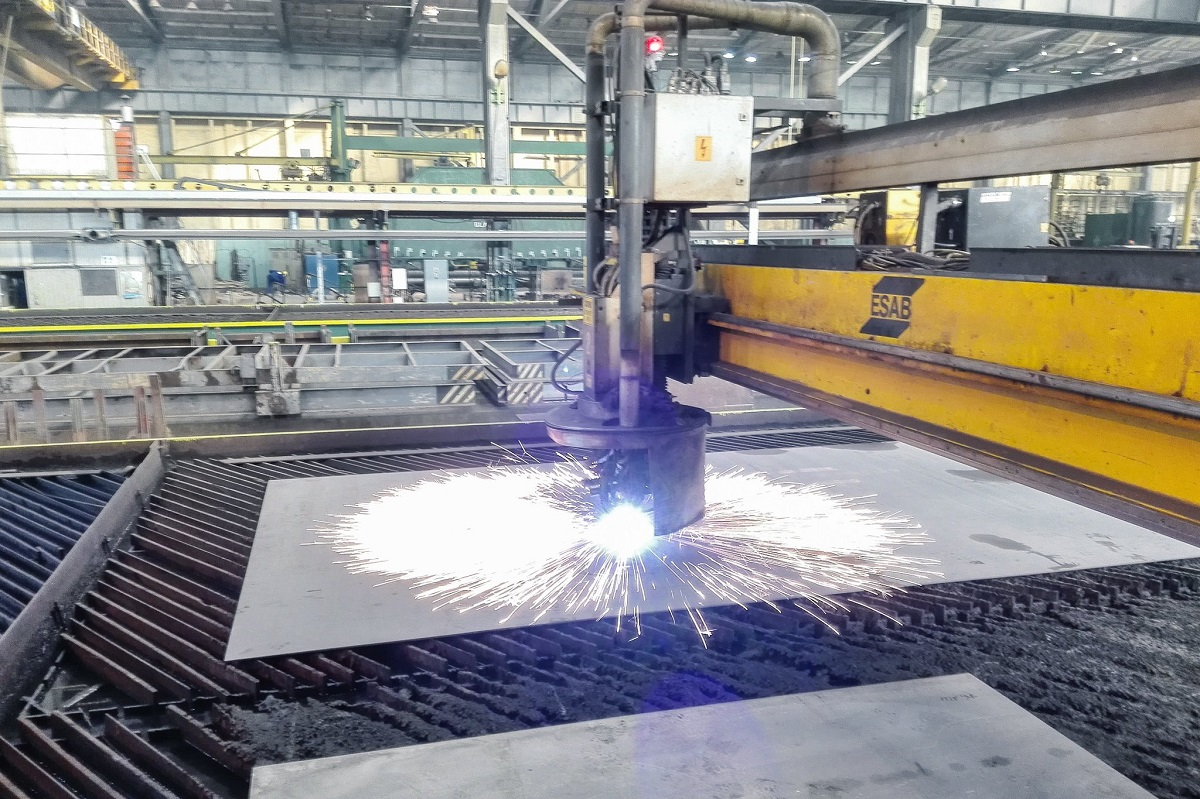 Steel-cutting ceremony of the NB 315
