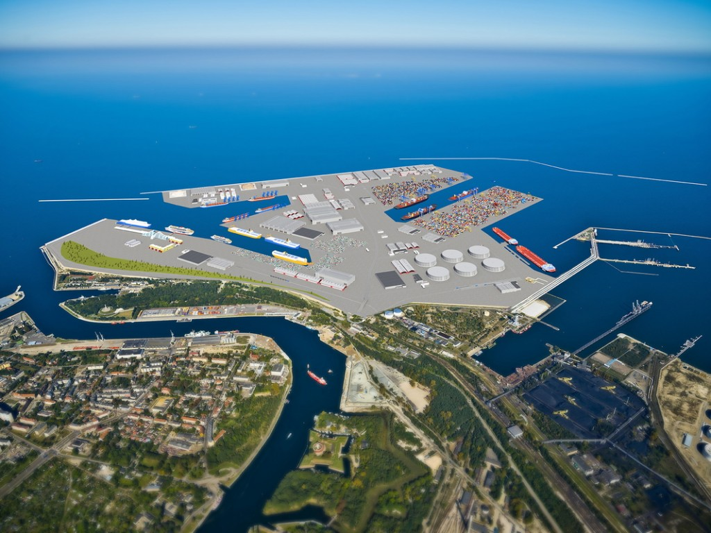 Visualisation of the Central Port (Photo: Port of Gdansk)