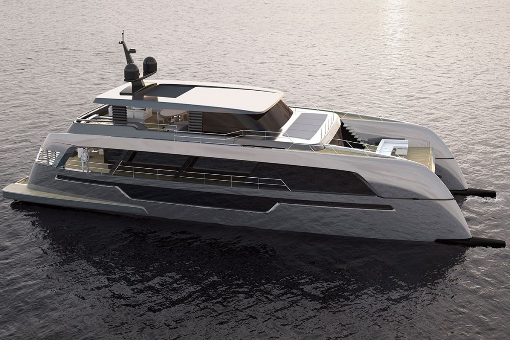 120 Sunreef Power catamaran motor yacht design concept rendering
