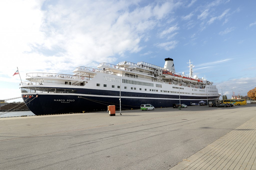This season's last passenger ship call at the Port of Gdansk was the visit of the vessel Marco Polo (Photo: Slawomir Lewandowski)