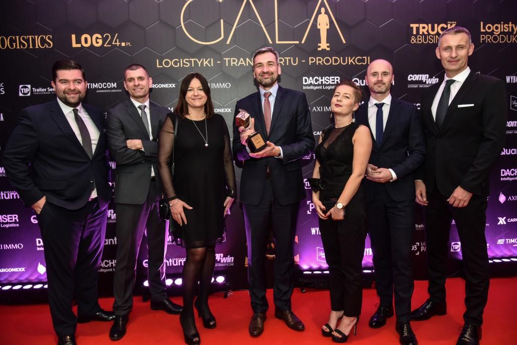 On behalf of  DSV the award was received by Filip Czerwiński, CEO of DSV Road