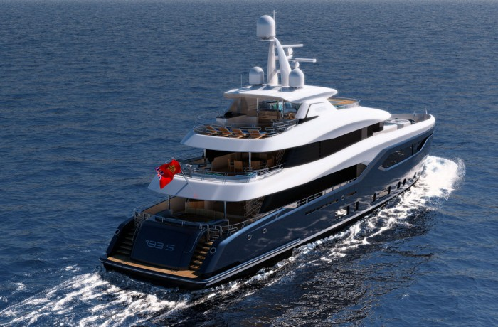New yacht model – the Conrad C133S Straight Bow