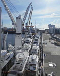 Yachts as a deck cargo