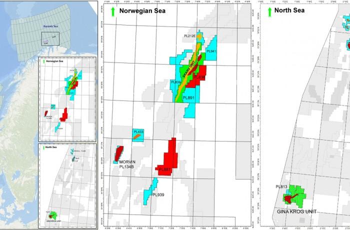 PGNiG current licenses on Norwegian Continental Shelf